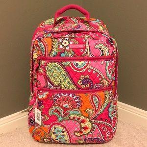 Vera Bradley Tech Backpack in Pink Swirls